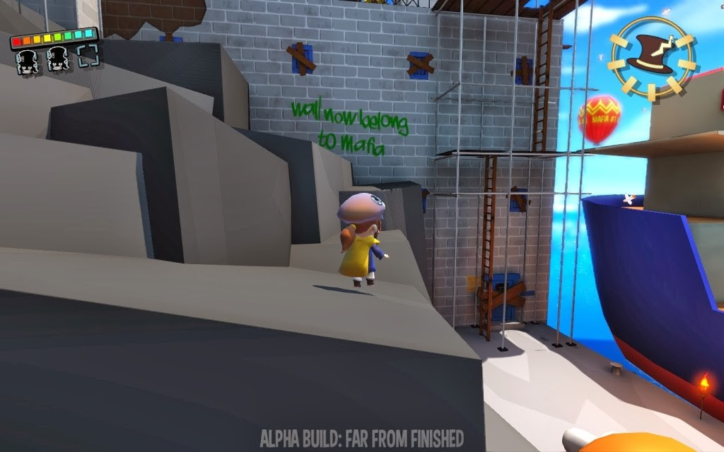 Funny graffiti in the alpha for A Hat in Time
