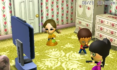 Miis playing Wii U in Tomodachi Life
