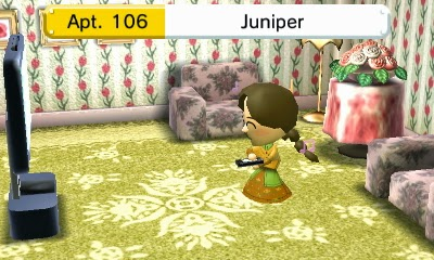 Juniper plays Wii U alone