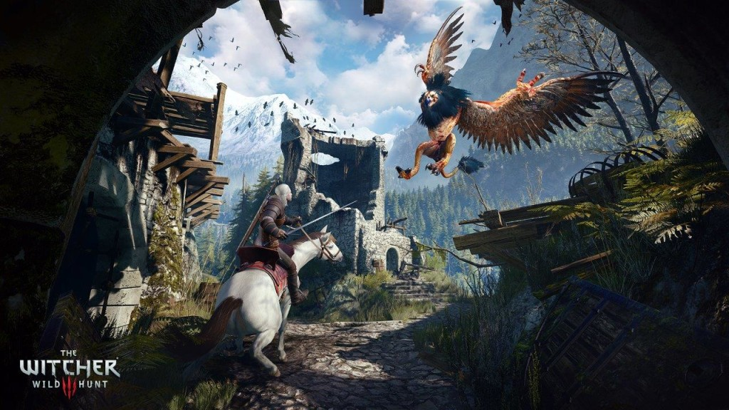 Witcher 3: Wild Hunt screenshot featuring a griffin