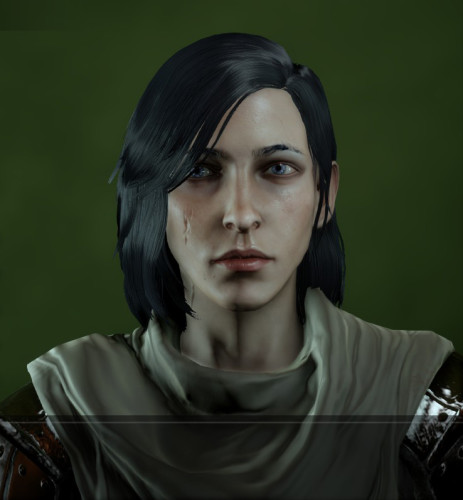 This is the only time my Inquisitor's hair ever looked black.