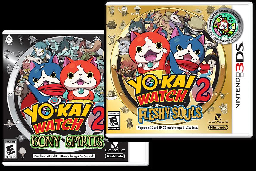Yo-Kai Watch 2 Version Details  Bony Spirits or Fleshy Souls ... 830000582b